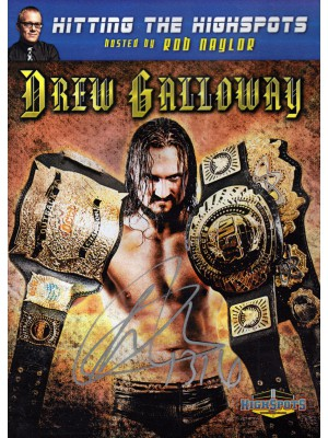 TNA - Drew Galloway - Hitting The Highspots With Rob Naylor (DVD - SIGNED BY DREW)
