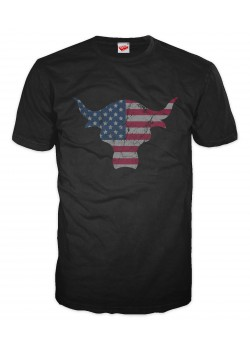 WWE - The Rock Dwayne Johnson - USA Brahma Bull (Retro T-Shirt)
