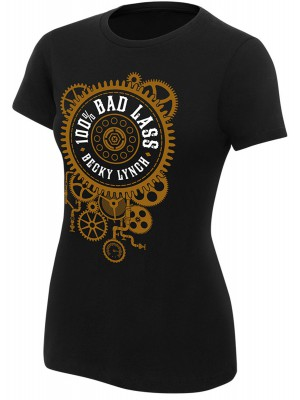 WWE - Becky Lynch - 100% Bad Lass (Authentic Womens Girlie T-Shirt)
