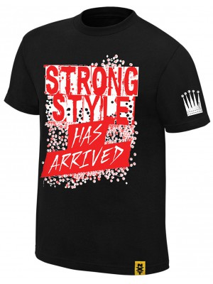 WWE - Shinsuke Nakamura - The King Of Strong Style Has Arrived Black (Authentic T-Shirt)