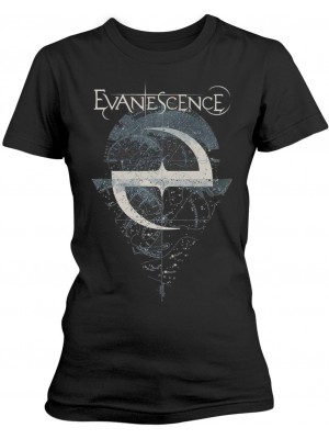 Evanescence - Space Map Lost Whispers (Women Girlie T-Shirt)