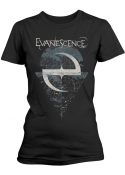 Evanescence - Space Map Lost Whispers (Womens Girlie T-Shirt)