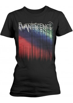 Evanescence - Tour Logo 2017 Lost Whispers (Womens Girlie T-Shirt)