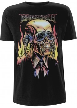 Megadeth - Flaming Vic Rattlehead (T-Shirt)