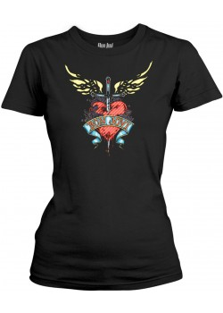 Bon Jovi - Heart And Dagger (Womens Girlie T-Shirt)