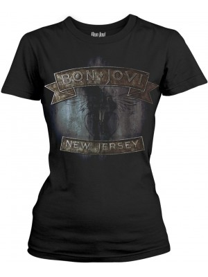 Bon Jovi - New Jersey (Womens Girlie T-Shirt)