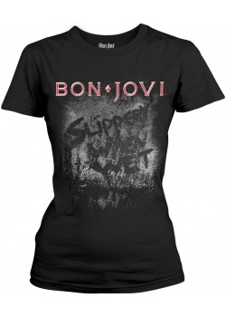 Bon Jovi - Slippery When Wet (Womens Girlie T-Shirt)