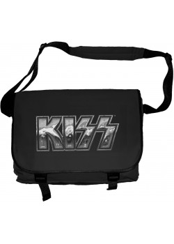 Kiss - Classic Iron Band Logo (Messenger Bag)