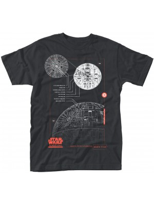 Star Wars - Rogue One - Blue Print Death Star (T-Shirt)