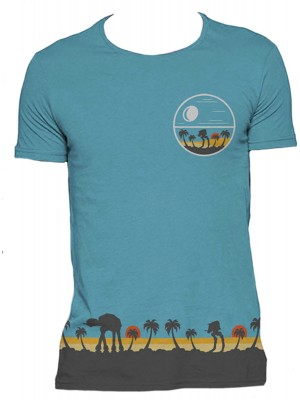 Star Wars - Rogue One - Scarif Death Star Blue (All Over Print T-Shirt)