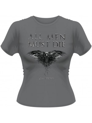 Game Of Thrones - All Men Must Die (Womens Girlie T-Shirt)