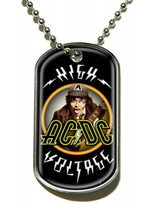 AC/DC - High Voltage (Dog Tag Pendant)