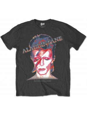 David Bowie - Aladdin Sane Album Cover Black (T-Shirt)