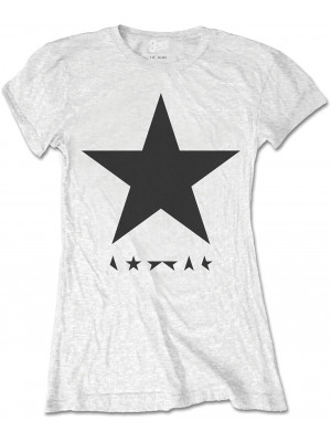 David Bowie - Blackstar Album Cover Black On White (Womans Girlie T-Shirt)