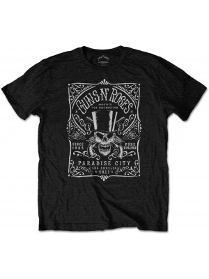 Guns N Roses - Bourbon Label Paradise City (T-Shirt)
