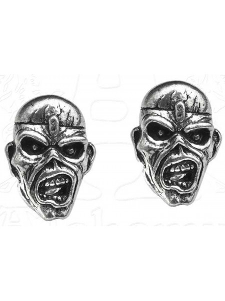 Iron Maiden - Piece Of Mind Eddie Head (Stud Earrings Ohrstecker)