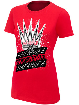 WWE - Shinsuke Nakamura - The King Of Strong Style (Authentic Womens Girlie T-Shirt)