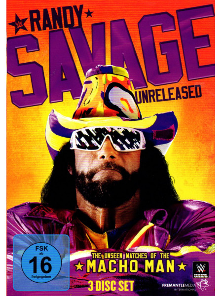 WWE - Macho Man Randy Savage - Unreleased The Unseen Matches Of The Macho Man (3x DVD)