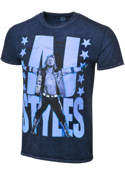 WWE - AJ Styles - P1 (Authentic Mineral Wash T-Shirt)