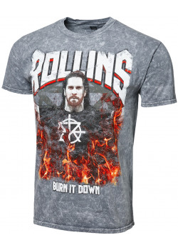 WWE - Seth Rollins - Burn It Down (Authentic Mineral Wash T-Shirt)