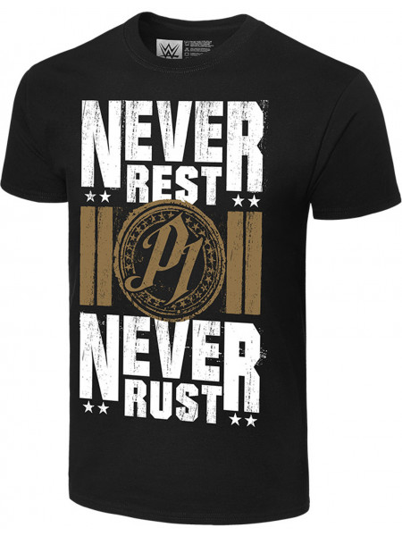 WWE - AJ Styles - Never Rest, Never Rust (Authentic T-Shirt)
